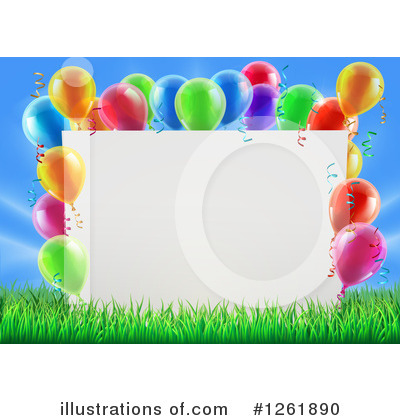 Party Balloons Clipart #1261890 by AtStockIllustration