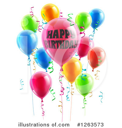 Party Balloons Clipart #1263573 by AtStockIllustration
