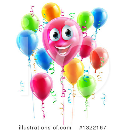 Party Balloons Clipart #1322167 by AtStockIllustration