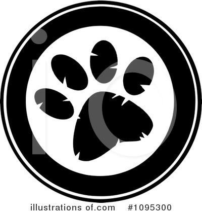 Paw Prints Clipart #1095300 by Hit Toon