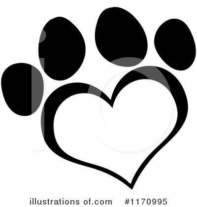 Paw Prints Clipart #1170995 by Hit Toon