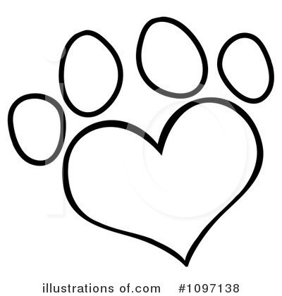 Royalty-Free (RF) Paw Prints Clipart Illustration by Hit Toon - Stock Sample #1097138
