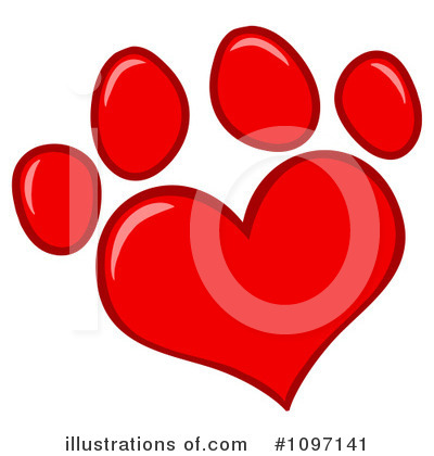 Paw Prints Clipart #1097141 by Hit Toon