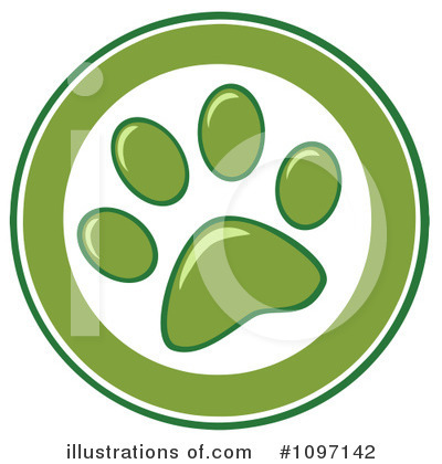 Paw Prints Clipart #1097142 by Hit Toon