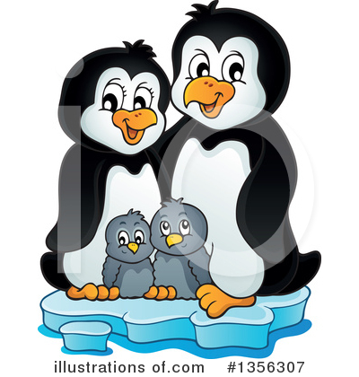 Penguin Clipart #1356307 by visekart