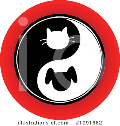 Yin Yang Clipart #1091682 by Maria Bell