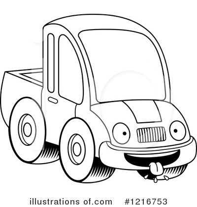Pickup Truck Clipart #1216753 - Illustration by Cory Thoman