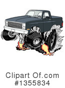Pickup Truck Clipart #1355834 by LaffToon