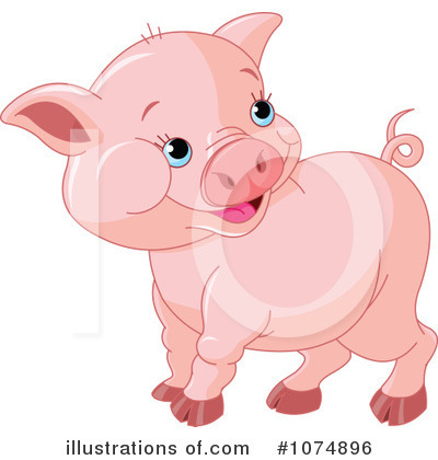 Pig Clipart #1074896 by Pushkin