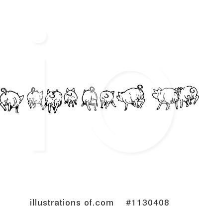 Pig Clipart #1130408 - Illustration by Prawny Vintage