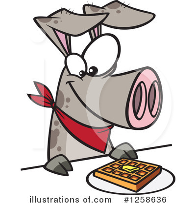 Pig Clipart #1258636 by toonaday