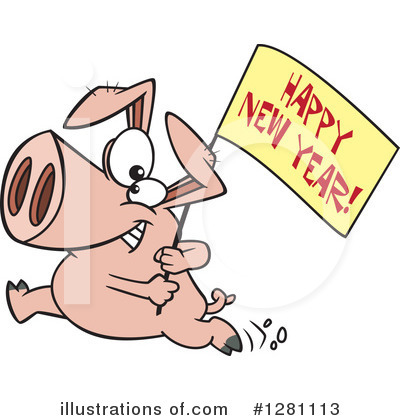 Pig Clipart #1281113 by toonaday