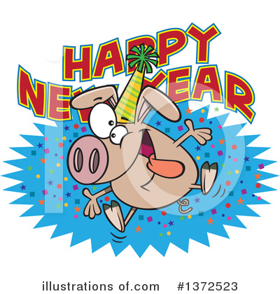 Royalty-Free (RF) Pig Clipart Illustration by toonaday - Stock Sample #1372523