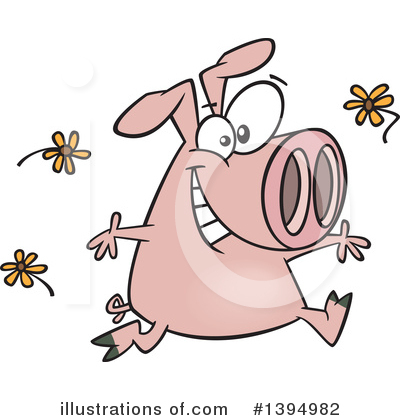 Pig Clipart #1394982 by toonaday