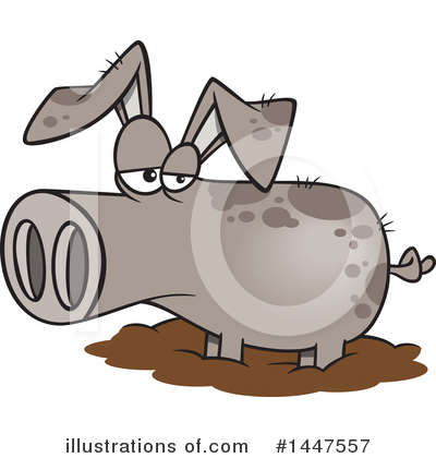 Pig Clipart #1447557 by toonaday