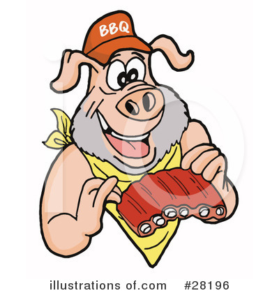 Bbq Clipart #28196 by LaffToon