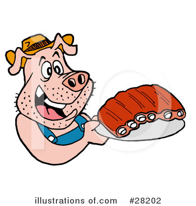 Ribs Clipart #28202 by LaffToon