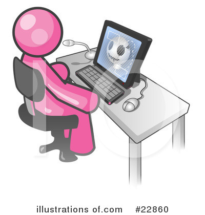 Royalty-Free (RF) Pink Collection Clipart Illustration by Leo Blanchette - Stock Sample #22860