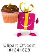 Pink Gift Character Clipart #1341828 by Julos