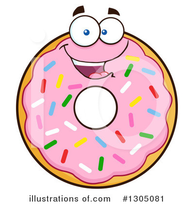 pink sprinkle donut clipart 1305081 illustration by hit toon rh illustrationsof com donuts clip art free donuts images clip art