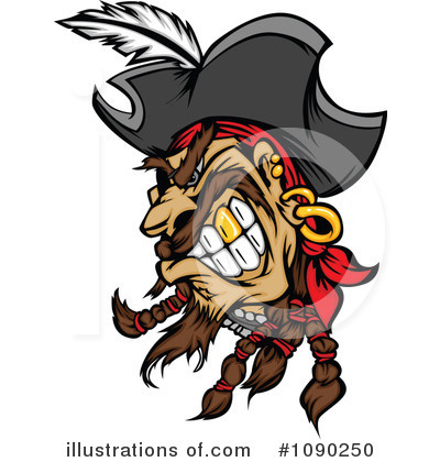 Royalty-Free (RF) Pirate Clipart Illustration by Chromaco - Stock Sample #1090250