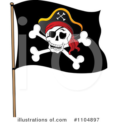 pirate flag clipart 1104897 illustration by visekart rh illustrationsof com Pirate Flag Logo pirate flag clipart black and white