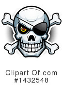Royalty-Free (RF) Pirate Skull Clipart Illustration #1432548