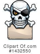Royalty-Free (RF) Pirate Skull Clipart Illustration #1432550