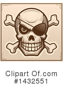 Royalty-Free (RF) Pirate Skull Clipart Illustration #1432551