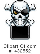 Royalty-Free (RF) Pirate Skull Clipart Illustration #1432552