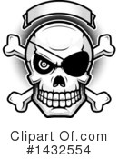 Royalty-Free (RF) Pirate Skull Clipart Illustration #1432554