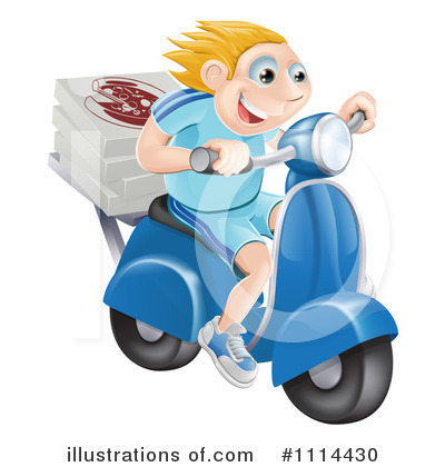 Motorcycle Clipart #1114430 by AtStockIllustration
