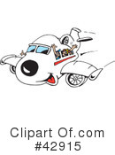 Plane Clipart #42915 by Dennis Holmes Designs
