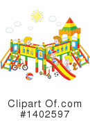 Playground Clipart #1402597 by Alex Bannykh