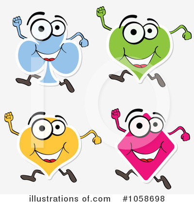 Playing Cards Clipart #1058698 - Illustration by Andrei Marincas