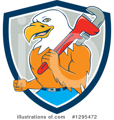 Bald Eagle Clipart #1295472 by patrimonio