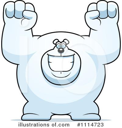 Polar Bear Family Christmas - Royalty Free Clipart Image