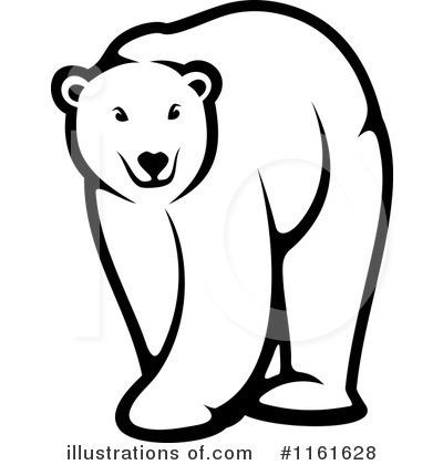 polar bear clipart 1161628 illustration by vector tradition sm rh illustrationsof com free christmas polar bear clipart free cartoon polar bear clipart