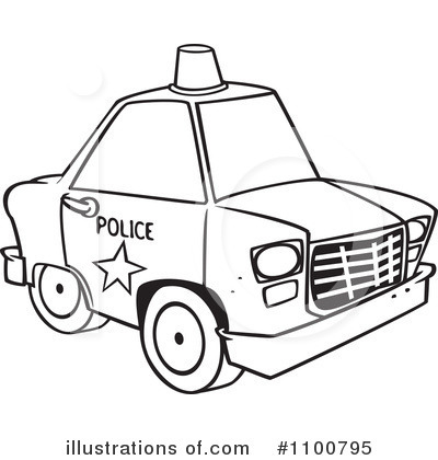 Police Car Clipart 1100795 Illustration By Toonaday
