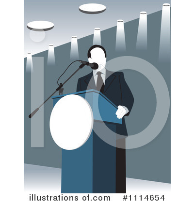 Politician Clipart #1114654 - Illustration by David Rey