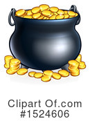 Pot Of Gold Clipart #1524606 by AtStockIllustration