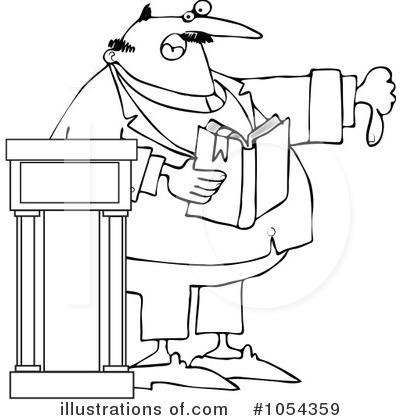 Preacher Clipart #1054359 - Illustration by Dennis Cox