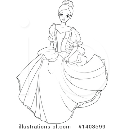 Princess Clipart 1403599 Illustration By Pushkin
