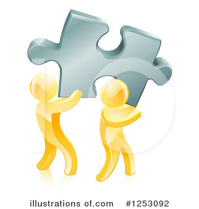 Teamwork Clipart #1253092 by AtStockIllustration