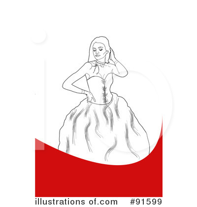 Prom Dress Clipart #91599 - Illustration by Arena Creative
