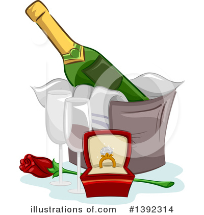 Champagne Clipart #1392314 by BNP Design Studio