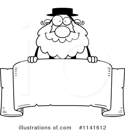 Royalty-Free (RF) Rabbi Clipart Illustration by Cory Thoman - Stock Sample #1141612