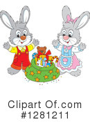 Rabbit Clipart #1281211 by Alex Bannykh