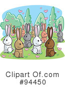 Rabbits Clipart #94450 by Cory Thoman