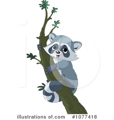 Raccoon Clipart #1077418 - Illustration by Pushkin